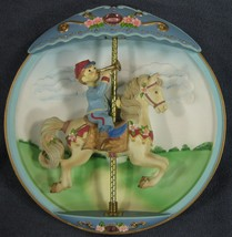 Dreams Of Destiny Collector Plate Carousel Daydreams 3-D Musical Animated - $41.95