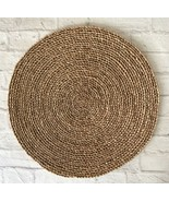 "Wicker Round Boho 14"" Trivet Home Decor Rattan  Table Protector Brown Fl... - $8.91"