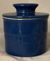 "Chefs Stoneware Blue Butter Bell Holder 4.5"" tall x 4"" wide kitchen gadget - $25.73"