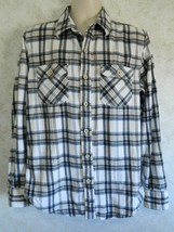Men's American Eagle Outfitters Blue Black Plaid Flannel LS Shirt Size M... - $19.68