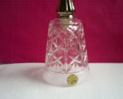Royal Crystal Rock Bell, Silver Plated Handle    Vintage