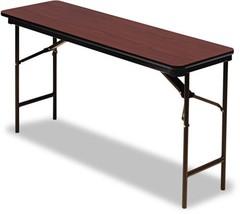 Wood Laminate Folding Table Foldable Desk Camping Rectangular 60wx18dx29... - $146.61