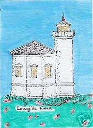 Coquille River Oregon Coast Lighthouse ACEO Bandon