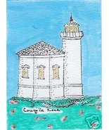 Coquille River Oregon Coast Lighthouse ACEO Bandon - $9.95