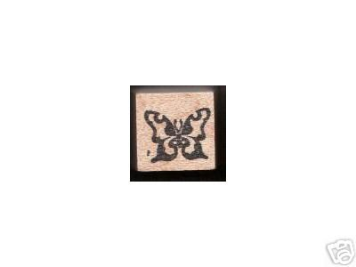 Small Butterfly rubber stamp flutterby