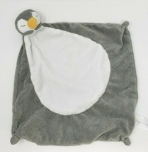 ANGEL DEAR BABY GREY & WHITE PENGUIN SECURITY BLANKET PLUSH STUFFED ANIM... - $55.17