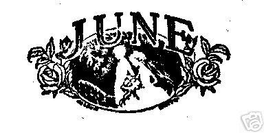 JUNE Month Rubber Stamp summer weddings roses