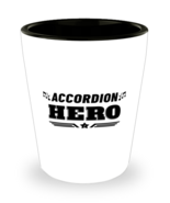 Accordion Hero Player Shot Glass - 1.5 oz Ceramic Cup For Music Fans Game  - $12.95