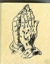 Praying hands rubber stamp large - $7.95
