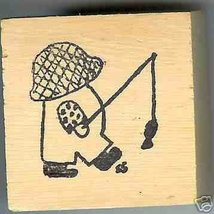Overall Boy Rubber Stamp artist signed Original small - $7.99