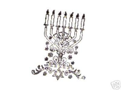 Menorah Candleholder rubber stamp candle holder
