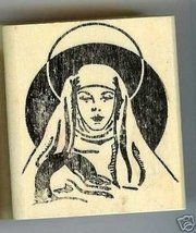Mary with Baby Jesus rubber stamp large - $6.50