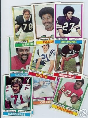 50 1974 Topps football cards Bundle different