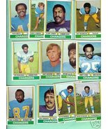 1974 Topps Football 12 Chargers Jones Owens Smith Vias+ - $9.99