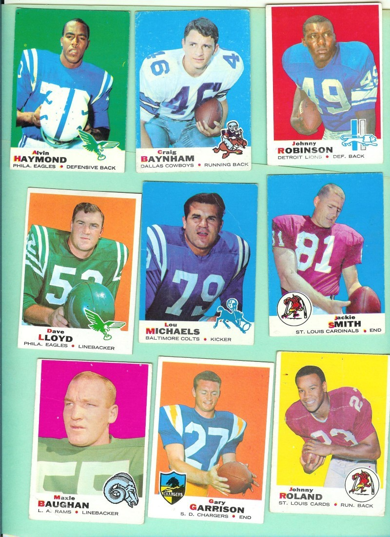 1969 Topps FootBall Card Lot #1 18 different AS IS