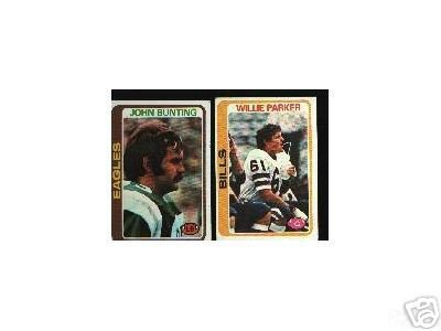 50 - 1978 Topps football cards assorted ex+
