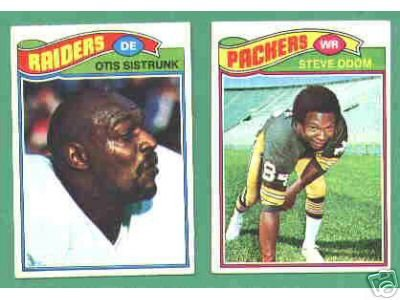 100 1977 Topps football cards Bundle different