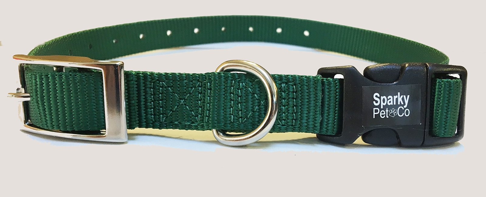 "Sparky PetCo E Collar Compatible 3/4"" Nylon Mini Double Buckle Quick Snap Replac"