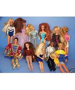 12 Used Barbie Ken etc Dolls Prince Black Dressed etc - $74.95