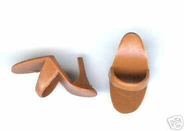 Barbie Open Toe Heels Shoes Pumps Brown Malaysia vintag