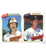 100 - 1980 Topps baseball cards Bundle different LOT - $12.50