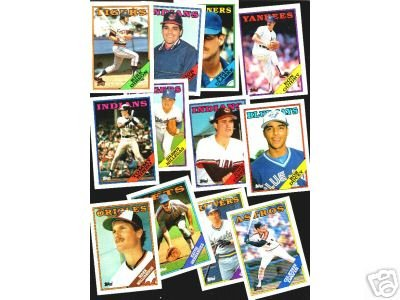100 - 1988 Topps baseball cards Bundle different LOT
