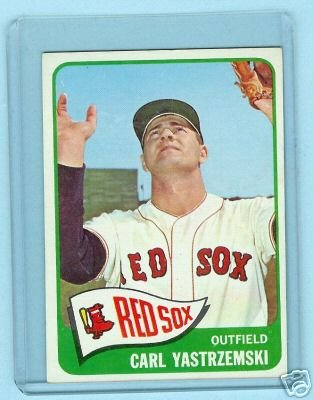 1965 Topps Baseball Card # 385 Carl Yastezemski Red Sox