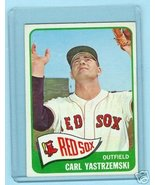 1965 Topps Baseball Card # 385 Carl Yastezemski Red Sox - $59.95