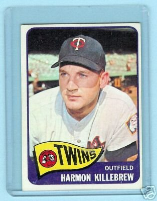 Primary image for 1965 Topps Baseball Card # 400 Harmon Killebrew Twins
