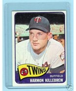 1965 Topps Baseball Card # 400 Harmon Killebrew Twins - $64.35