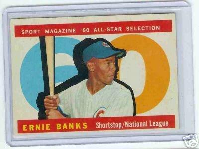 1960 Topps Baseball Card AS Ernie Banks #560