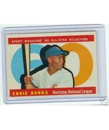 1960 Topps Baseball Card AS Ernie Banks #560 - $64.35