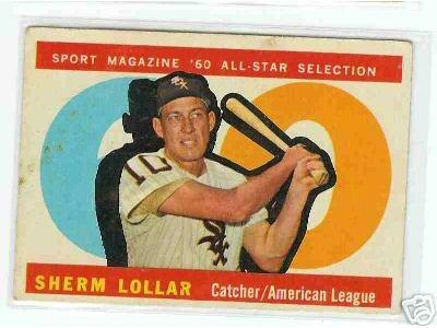 1960 Topps Baseball Card AS Sherm Lollar # 567