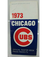 1973 CHICAGO CUBS MEDIA GUIDE Program Baseball Press Book Yearbook Magazine - $11.84