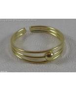 14 Karat Gold Plated 3 Row Toe Ring - $12.99