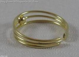 14 Karat Gold Plated 3 Row Toe Ring image 2