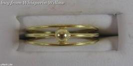14 Karat Gold Plated 3 Row Toe Ring image 3