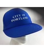 Blue City Of Portland Snapback Hat Portland, Oregon *RARE* Cap Trucker - $14.72