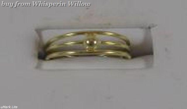 14 Karat Gold Plated 3 Row Toe Ring