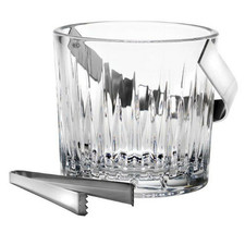 Reed & Barton Hamilton Ice Bucket Handle Tongs Crystal Stainless New In Box - $143.90