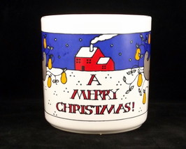 Merry Christmas coffee mug FPC England  - $8.00