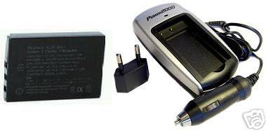 Battery +Charger for Sanyo VPCHD200 VPCHD2000EX DBL50AU