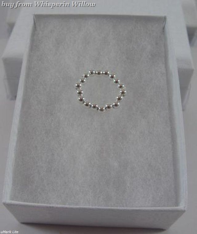 Sterling Silver Bead Stretch Toe Ring