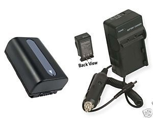 TWO Batteries + Charger for Sony DCR-SR68R DCRSX33E DCRSX34 DCRSX34E HDR-PJ50VE