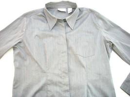 Women Liz Claiborne Grey Top Shirt Xl Extra Large - $6.50