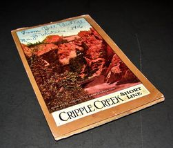 1916 Antique POSTCARD FOLDER Cripple Creek Shor... - $24.99