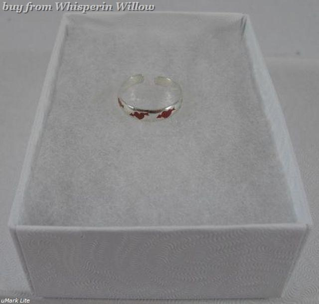Sterling Silver Toe Ring with Heart and Arrow Design