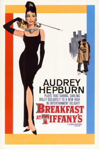 BREAKFAST AT TIFFANY'S MOVIE POSTER 24x36 AUDREY HEPBURN HOLLY GOLIGHTLY