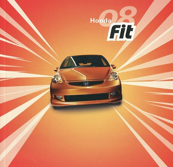 2008 Honda FIT sales brochure catalog 08 US Jazz Sport GO