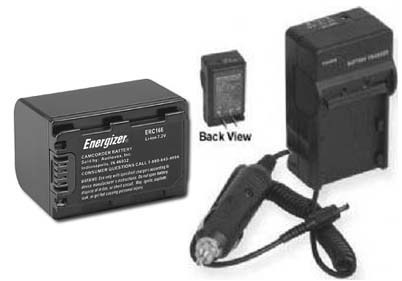 Battery + Charger for Sony HDRUX20 HDRUX20E HDR-XR100